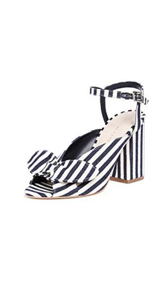 Loeffler Randall bow sandals white shoes