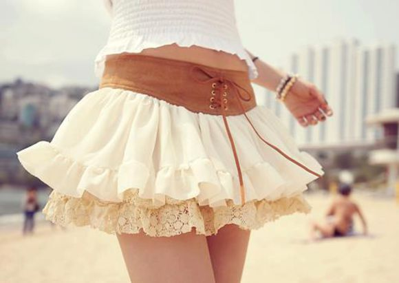 skirt lace shir clothes brown leather boho girly cute cream skirt lace sneakers sneakers with lace