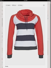 sweater,clothes,sporty,blue,white,red,casual,warm,cozy,fall outfits,trendy,winter outfits,jumper,stripes,back to school,turtleneck,long sleeves,outfit