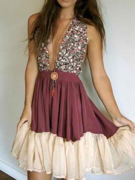 a8e06517d060 dress summer hippie floral indie boho bohemian hippy dress