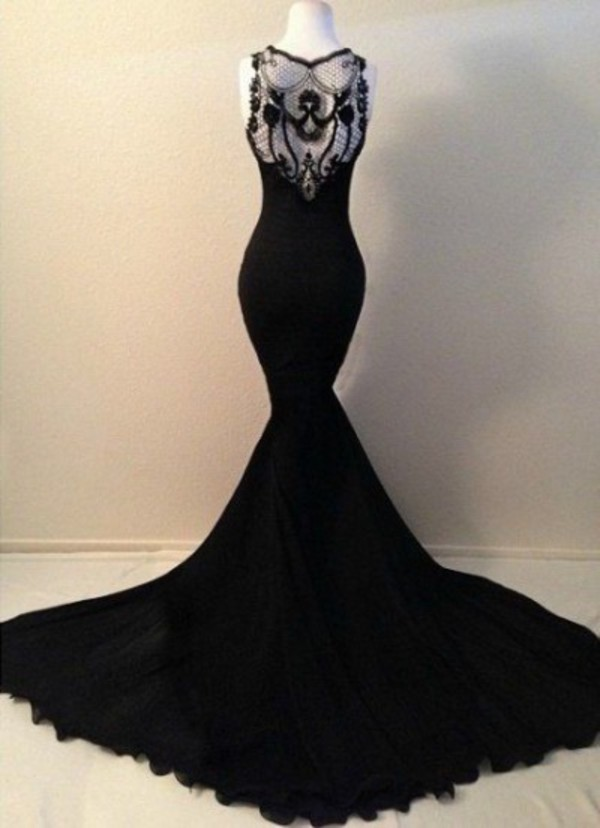 Aliexpress.com : Buy 2015 Sexy Black Long Mermaid Prom ...