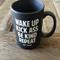 Jac vanek wake up coffee mug