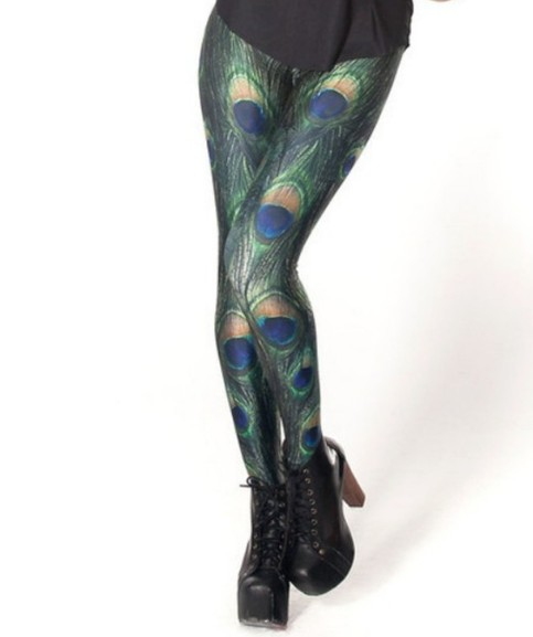 Peacock leggings · andrea's fashion boutique · online store powered by storenvy