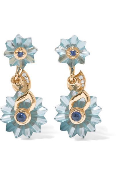 Alice Cicolini - 9-karat Gold Multi-stone Earrings - one size