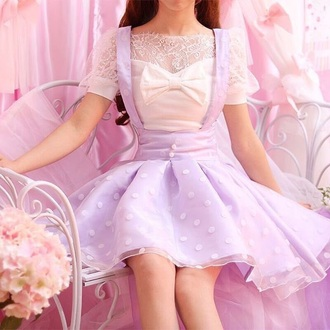 dress purple pastel ruffle lace