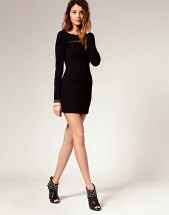 dress evening casual bodycon dress long sleeves sleeves party outfits little black dress black long sleeve dress