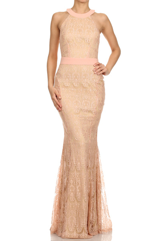 dress back keyhole blush lace dress blush long dress evening dress mermaid prom dress blush dress long dress mermaid/trumpet formal dress lace dress