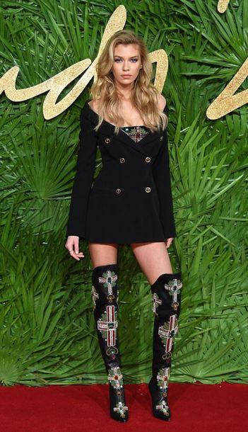 dress blazer blazer dress stella maxwell boots over the knee boots model off-duty