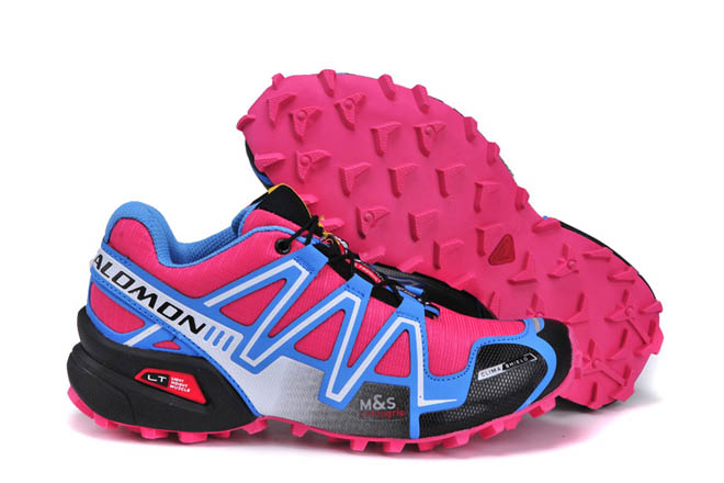 Salomon Speedcross 3 Cs Climashield Trail Running Woman Shoes Outdoor Blue Peach Pink Black