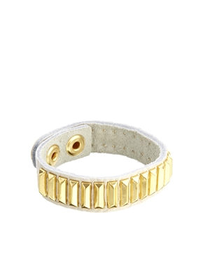 ASOS | Limited Edition Leather Bar Bracelet at ASOS