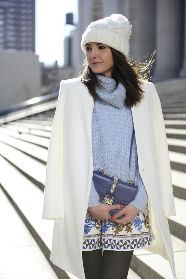 lovely pepa skirt sweater hat bag coat shoes jewels