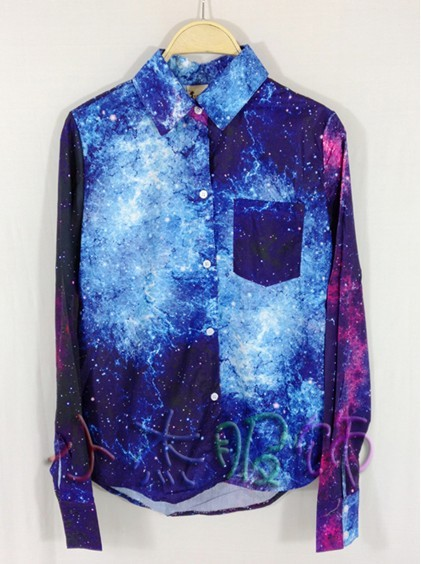 Aliexpress.com : Buy New fashion! Women Galaxy blouse, Galaxy shirt, free shipping from Reliable shirt free shipping suppliers on Layking&sunlight