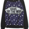 Black blue long sleeve stars skateboard print sweatshirt - sheinside.com