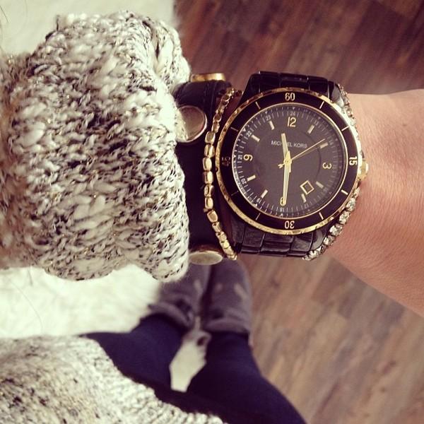 Michael Kors Gold Watch Link Ring