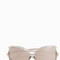 Linda farrow luxe ash rose gold oversized sunglasses