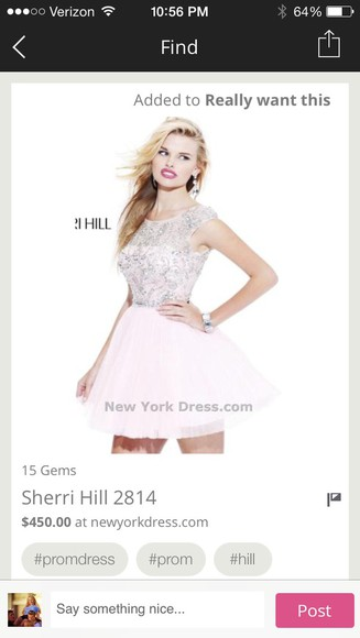 dress pale pink sherri hill sherri hill short