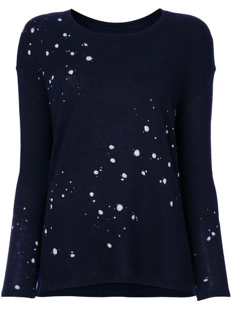 Majestic Filatures jumper women print blue sweater
