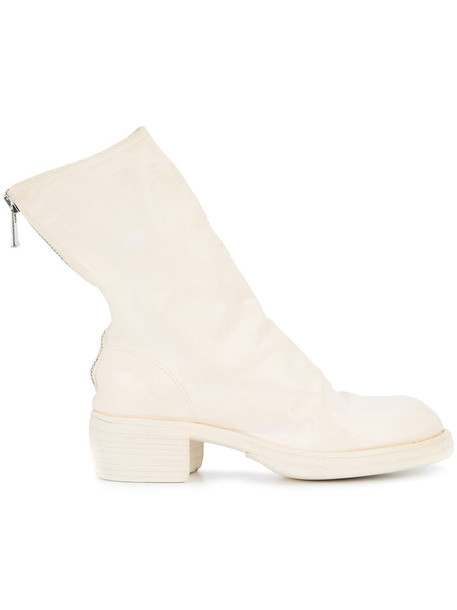 Guidi horse women leather white shoes