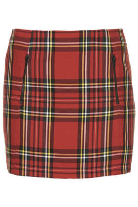 Big Tartan Pelmet Skirt - Topshop