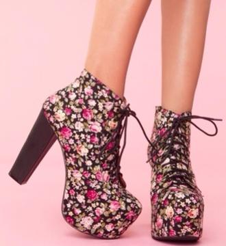 platform lace up boots jeffrey campbell roses floral
