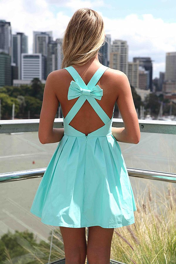 Blue Mini Dress - Blue Sleeveless Mini Dress with | UsTrendy