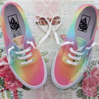 shoes rainbow
