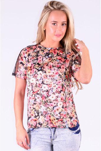 Ladies Pryor Floral Print Top at Pop Couture UK