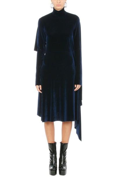 Vetements dress velvet dress blue velvet
