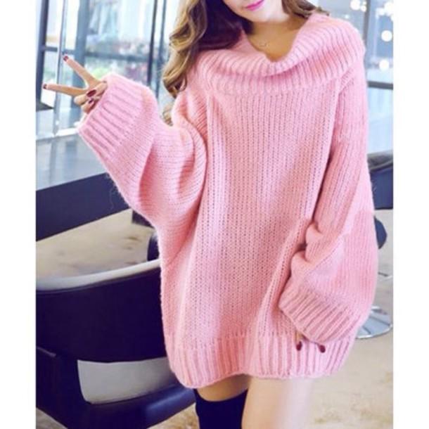 adf793c607b9 sweater sweater dress pink dress big sweaters kawaii pink oversized  oversized sweater cardigan pink sweater kawaii