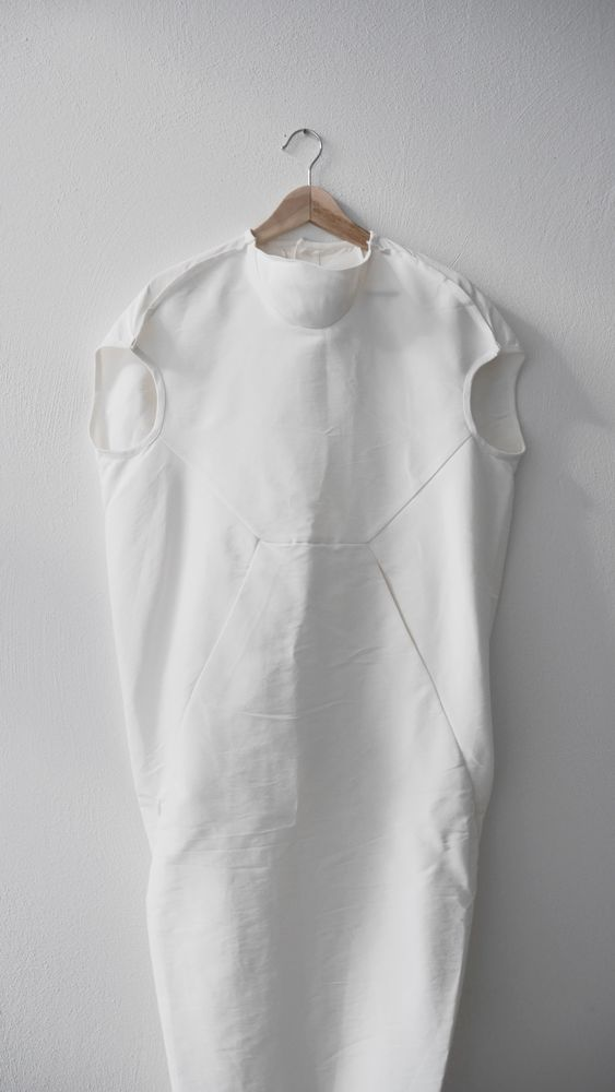 Rick Owens Beautiful White Maxi Dress 40 IT