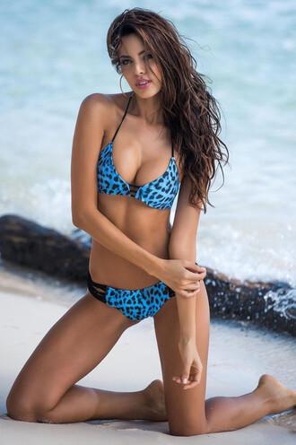 swimwear bikini cheeky irgus animal print exclusive halter top bikiniluxe