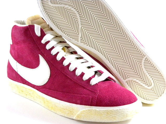 Nike Blazer High Vintage Cherry Pink Suede/White Suede Retro Casual Men Shoes | eBay