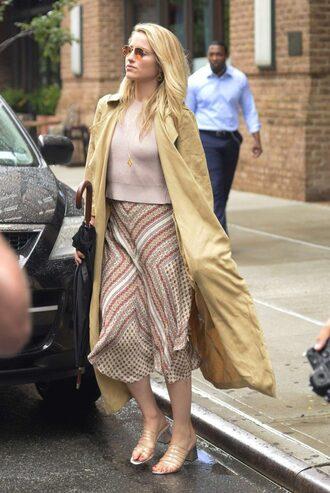 skirt midi skirt top sweater coat streetstyle dianna agron