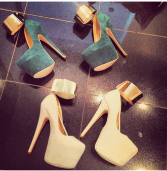 shirt turquoise nude high heels nude high heels gold shoes
