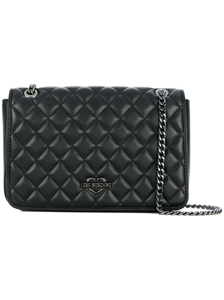 LOVE MOSCHINO women quilted bag shoulder bag black