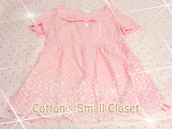 kawaii,dolly,pink,peter pan collar,spotty,spotted dress,light pink,pastel pink