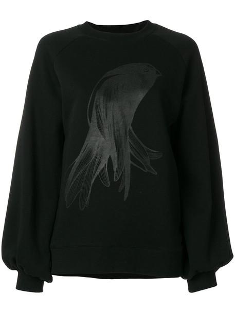 Ioana Ciolacu sweatshirt oversized women cotton black sweater