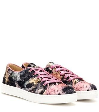 embellished sneakers velvet shoes