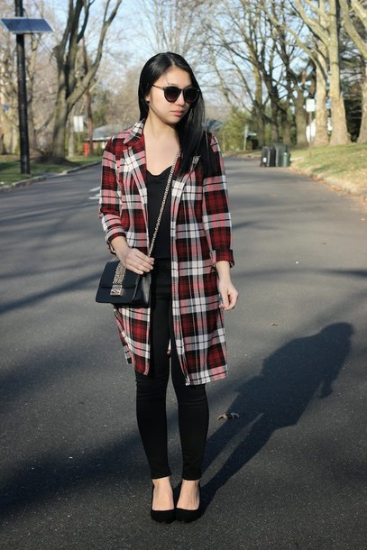 looks by lau blogger coat flannel