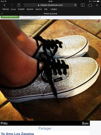 vans shiny grey black lace