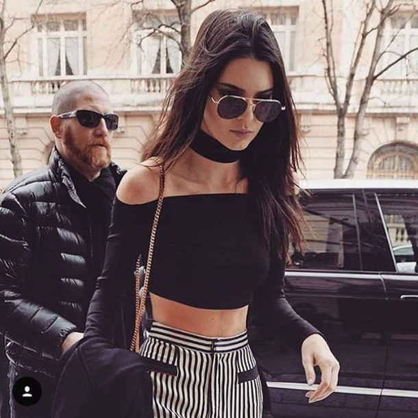 jewels jewel cult jewelry necklace choker necklace black choker black kendall jenner model model off-duty keeping up with the kardashians celebrity style celebrity celebstyle for less