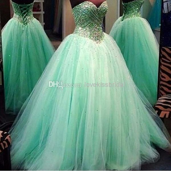 Cheap 2015 Quinceanera Dresses - Discount Up Tulle Ball Gown Quinceanera Dresses Gorgeous Sweetheart Online with $161.26/Piece   DHgate