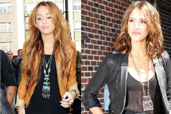 jessica alba jacket jewels necklace ethnic miley cyrus