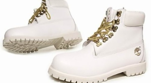 canción Subjetivo Fácil de leer  shoes, timberlands, boots, timberland black gold, white, gold chain,  timberland - Wheretoget