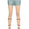 Nappa leather shorts