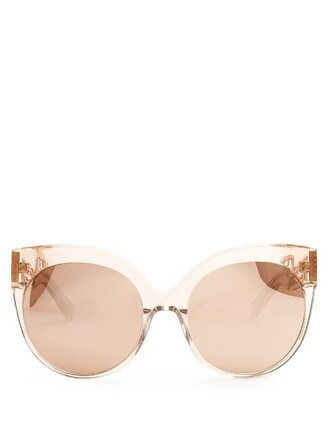 rose sunglasses gold pink