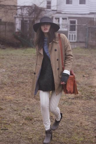 natalie off duty coat sweater shirt pants hat shoes bag