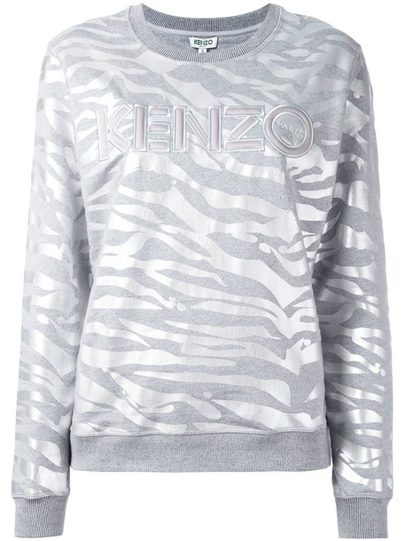 2e3cdef3 Kenzo tiger stripes sweatshirt in grey - Wheretoget