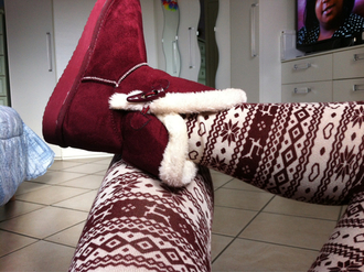 shoes ugg boots boots burgundy