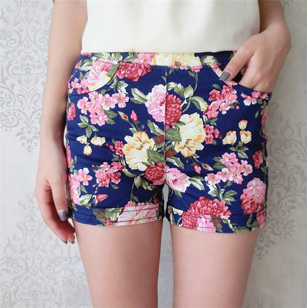2014 Summer New Women Trousers High Waist Shorts National Wind Retro Fresh Floral Shorts-in Shorts from Apparel & Accessories on Aliexpress.com
